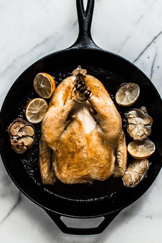Garlic Lemon Rosemary Roasted Chicken
