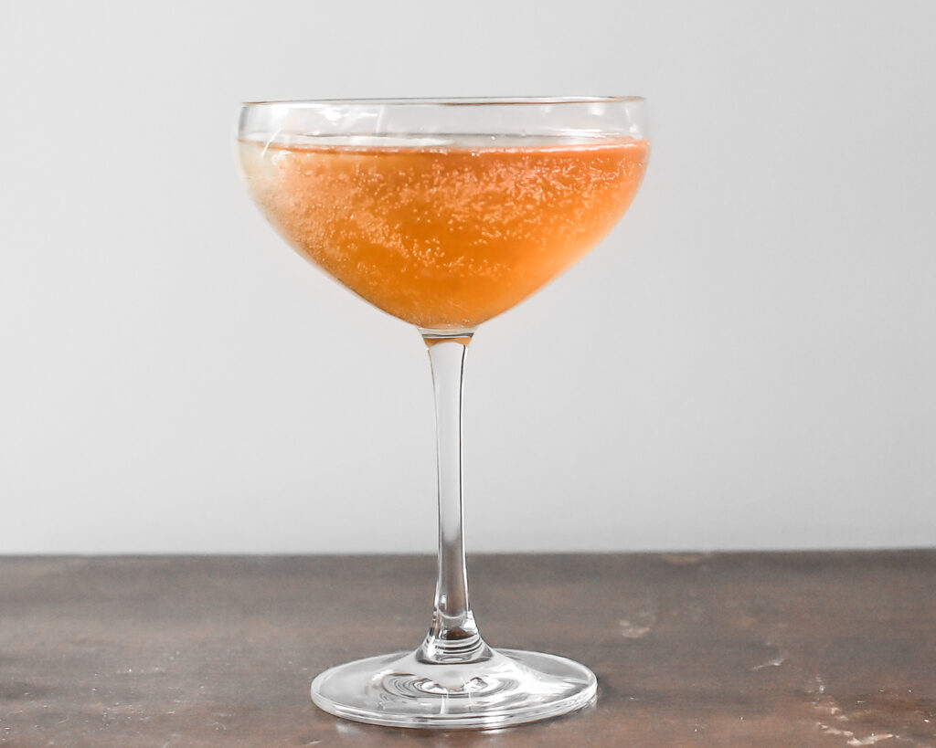 Sparkling Whiskey with Lavender Orange Syrup