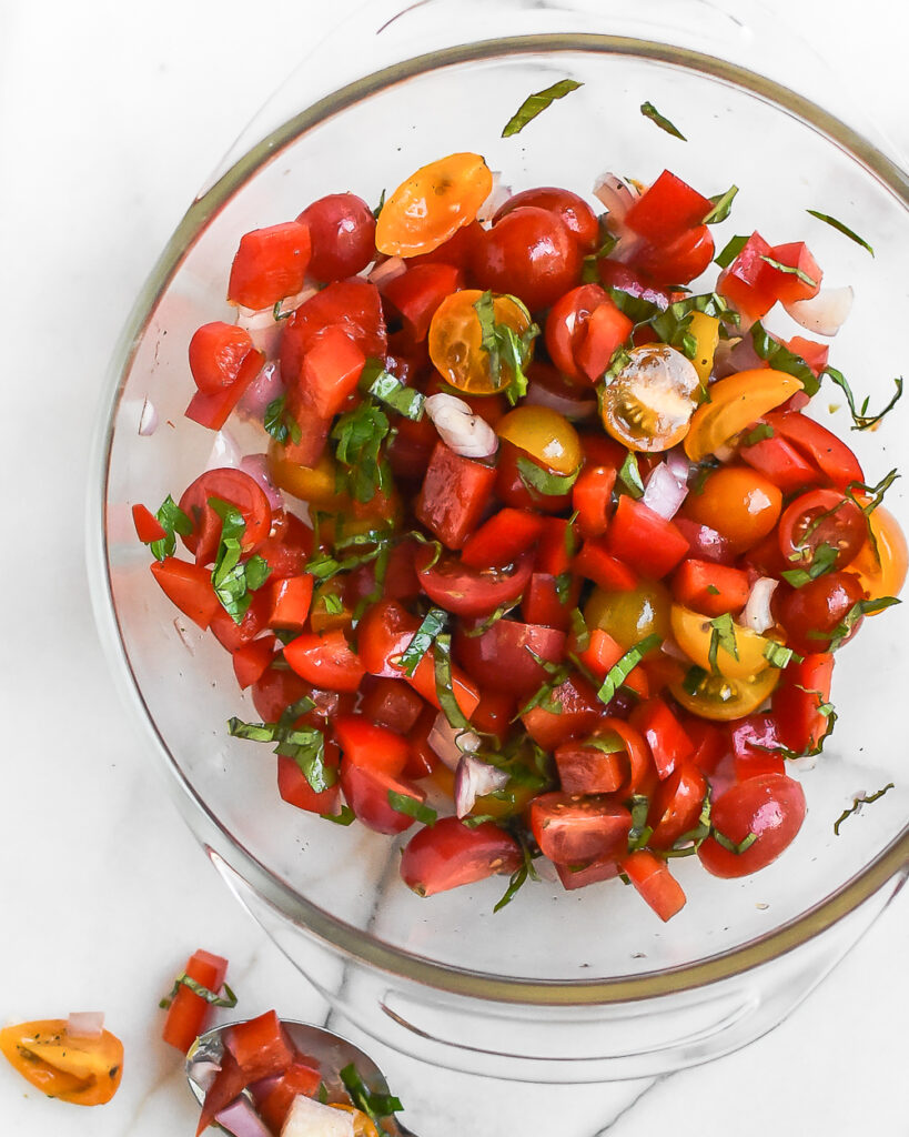 Tomato and Red Pepper Salad