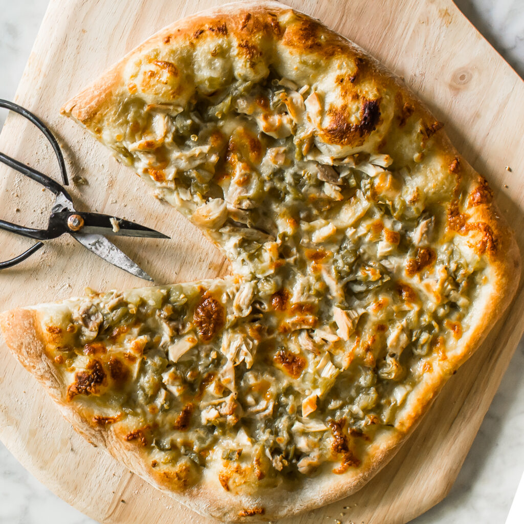 Hatch Green Chile Chicken Pizza
