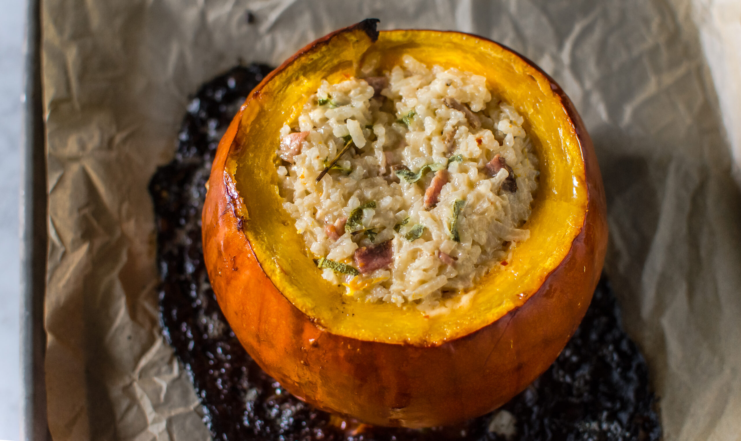 Brisket Stuffed Pumpkin