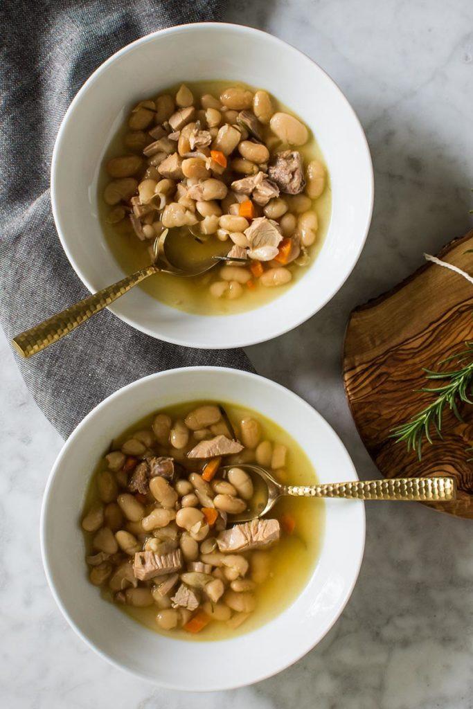Instant Pot Rosemary Chicken White Bean Soup