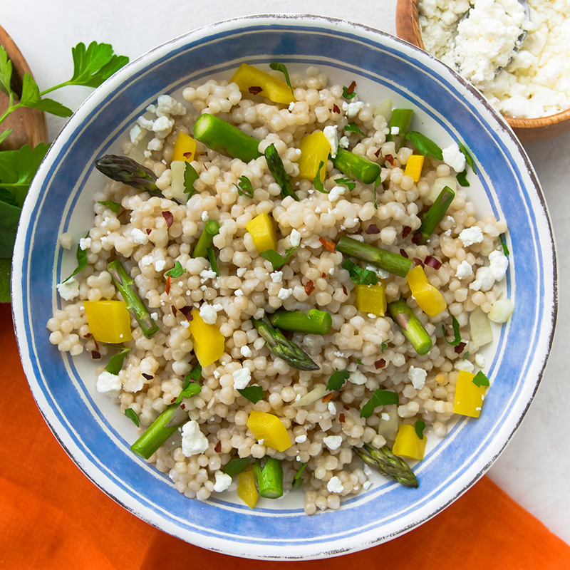 Asparagus and Bell Pepper Couscous Salad