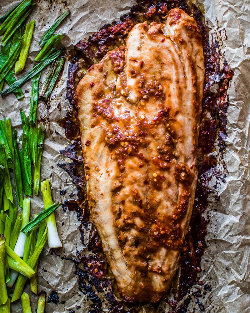 Roasted Chili-Garlic Red Snapper