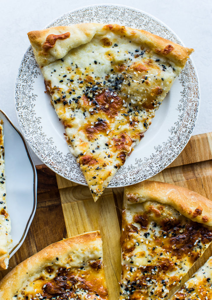Everything But the Bagel White Pizza