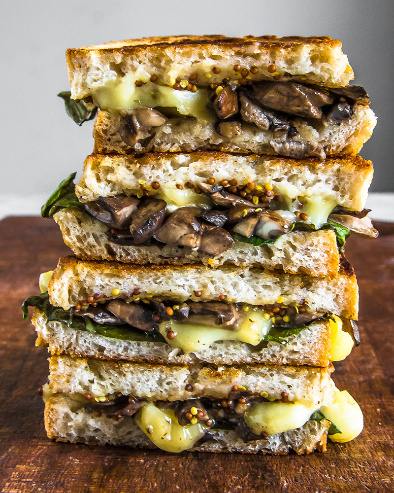 Mushroom and Brie Grilled Cheese