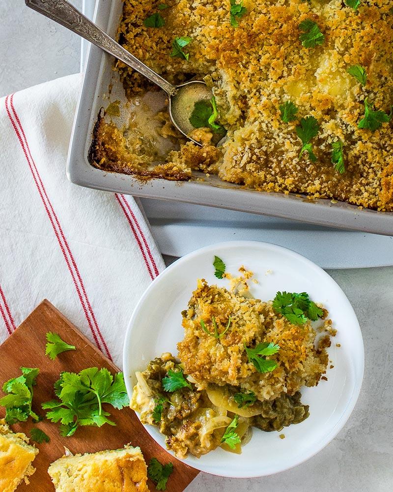 Hatch Green Chile Potato Gratin