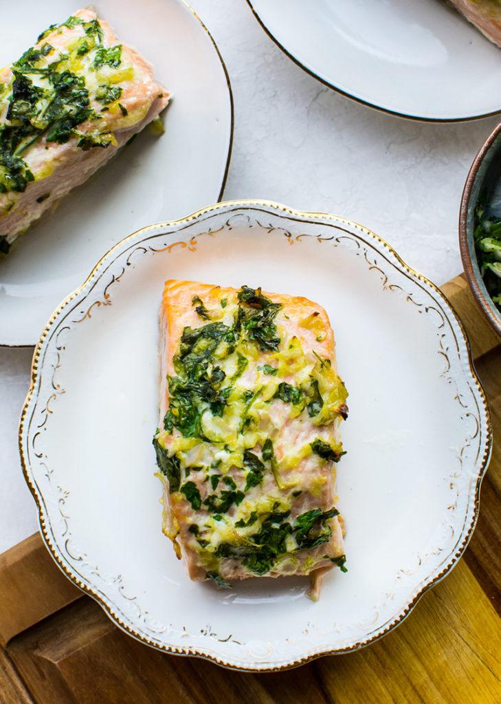 Baked Lemon-Herb Salmon