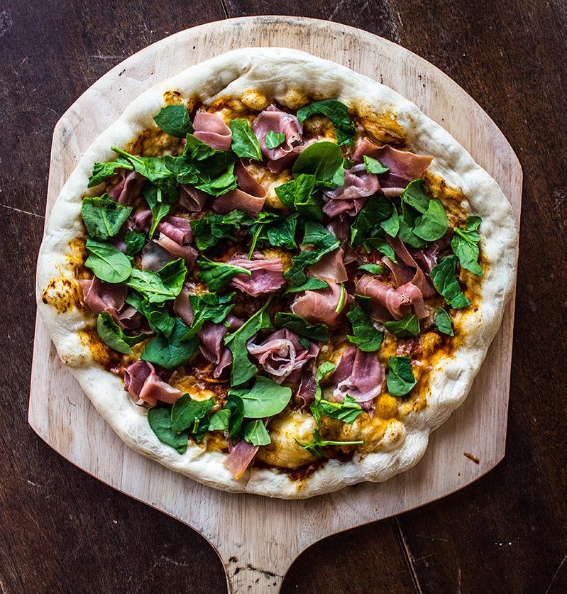 Prosciutto and Sundried Tomato Pizza