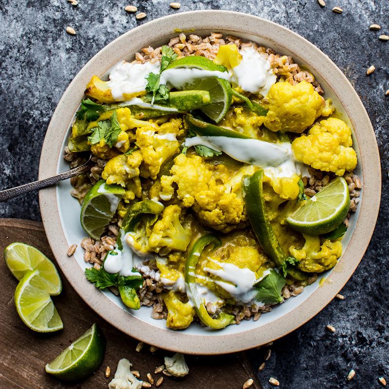 Yellow Curry Cauliflower