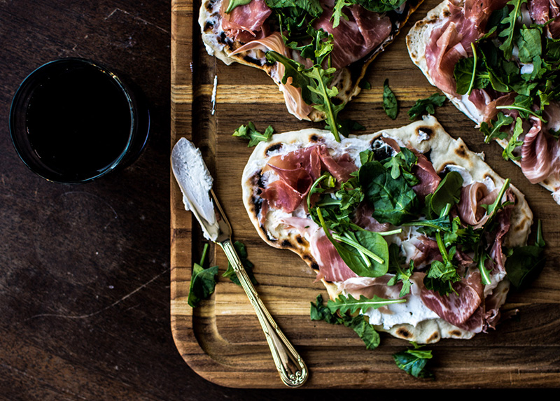Prosciutto and Greens Skillet Flatbread