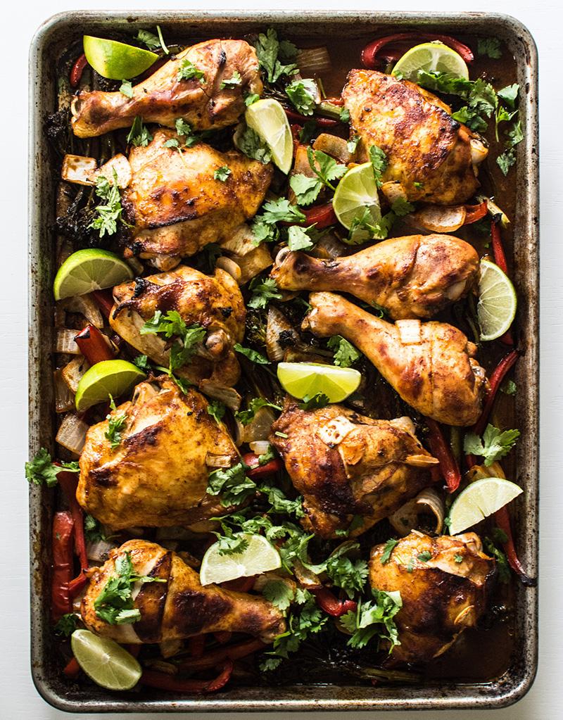 Sheet Pan Gochujang Chicken and Broccoli