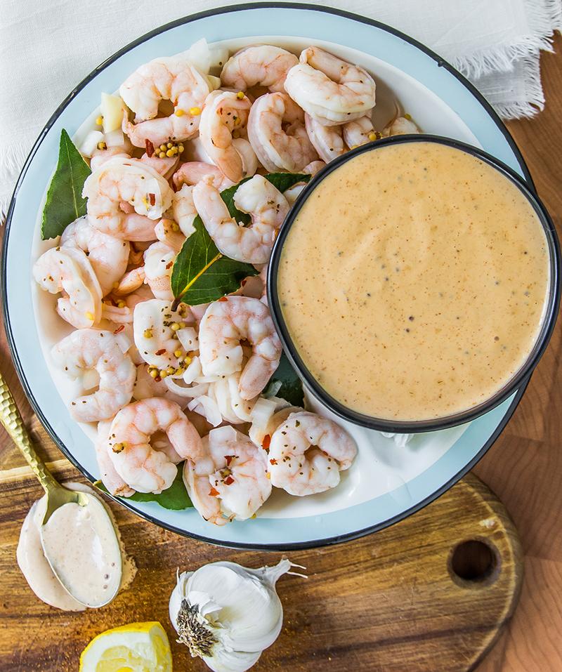 Pickled Shrimp with Mississippi Comeback Sauce