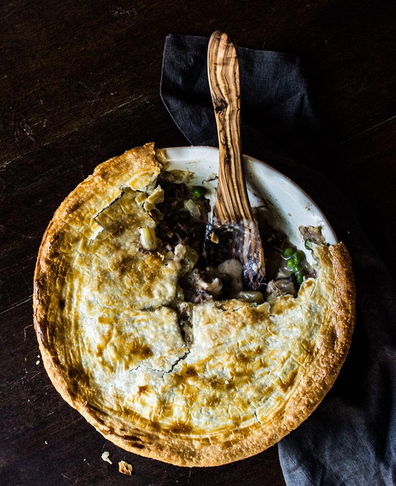 Flank Steak and Wild Mushroom Pot Pie