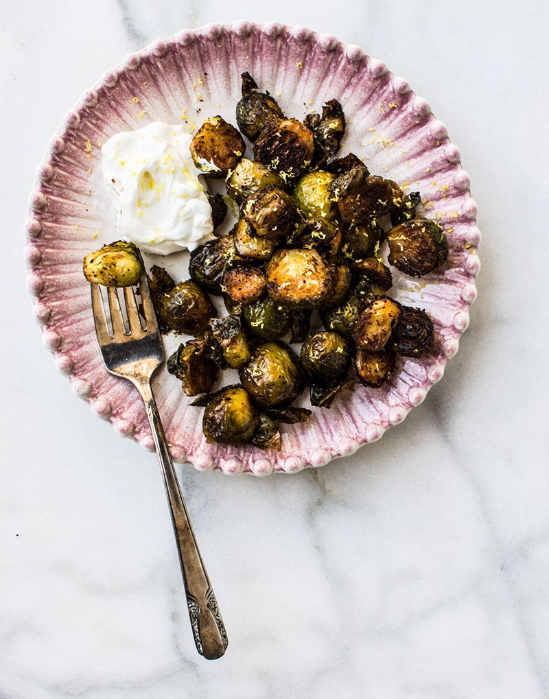 Spicy Roasted Brussels
