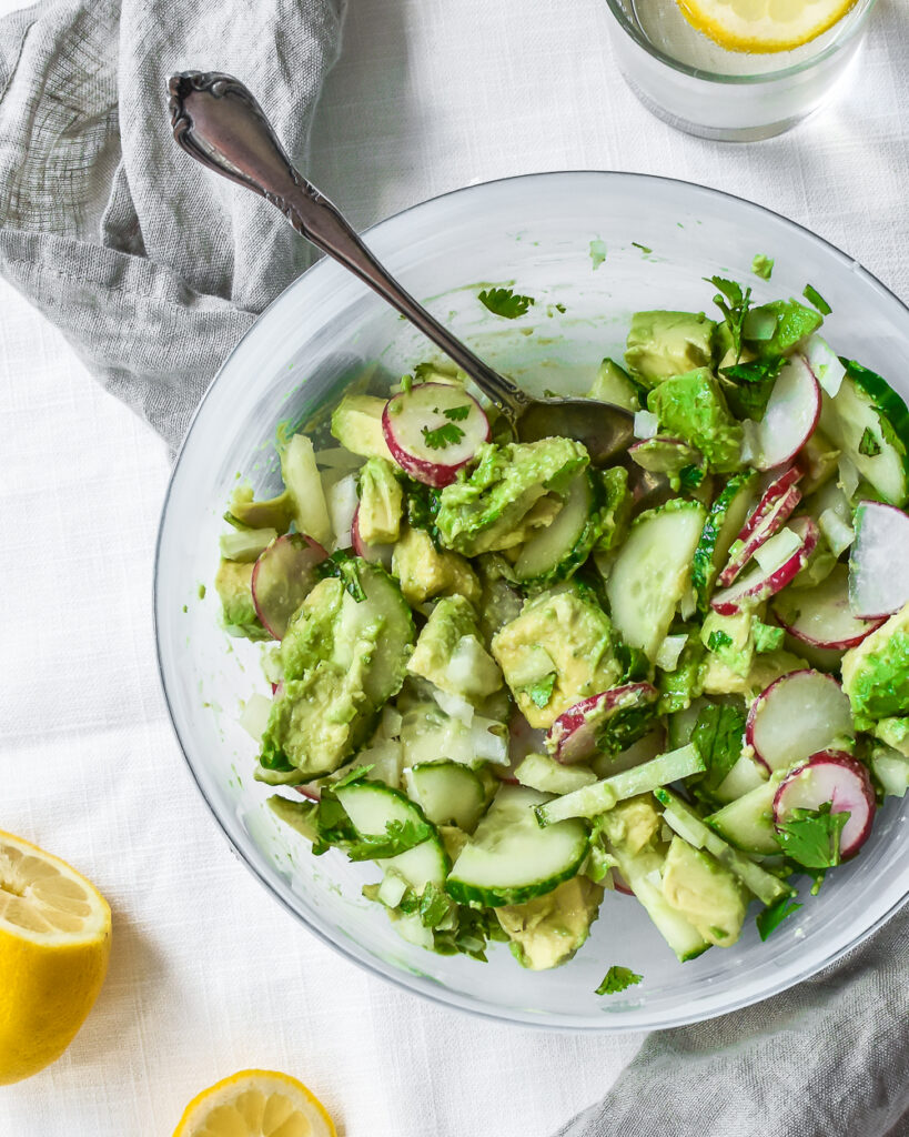 Avocado, Cucumber and Radish Salad
