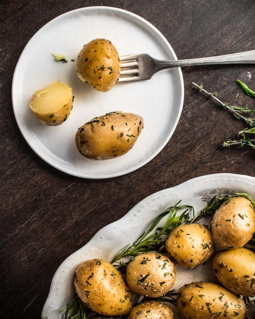Herbed Duck Fat Roasted Potatoes