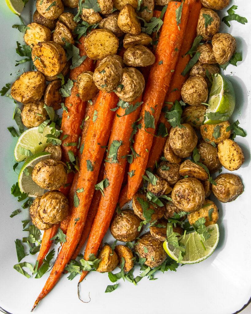 Cumin Roasted Potatoes and Carrots