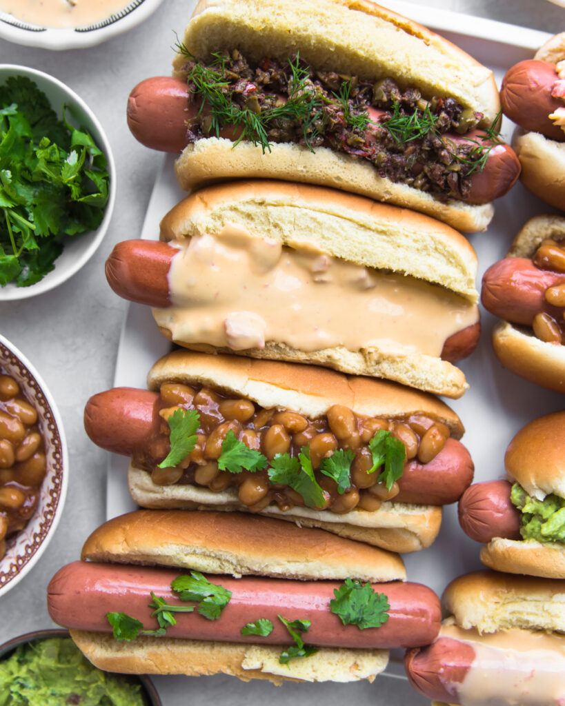 Sheet Pan Loaded Hot Dogs