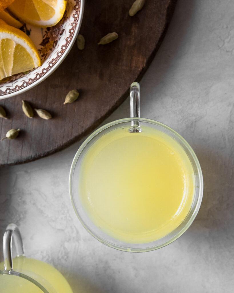 Warm Cardamom Lemonade