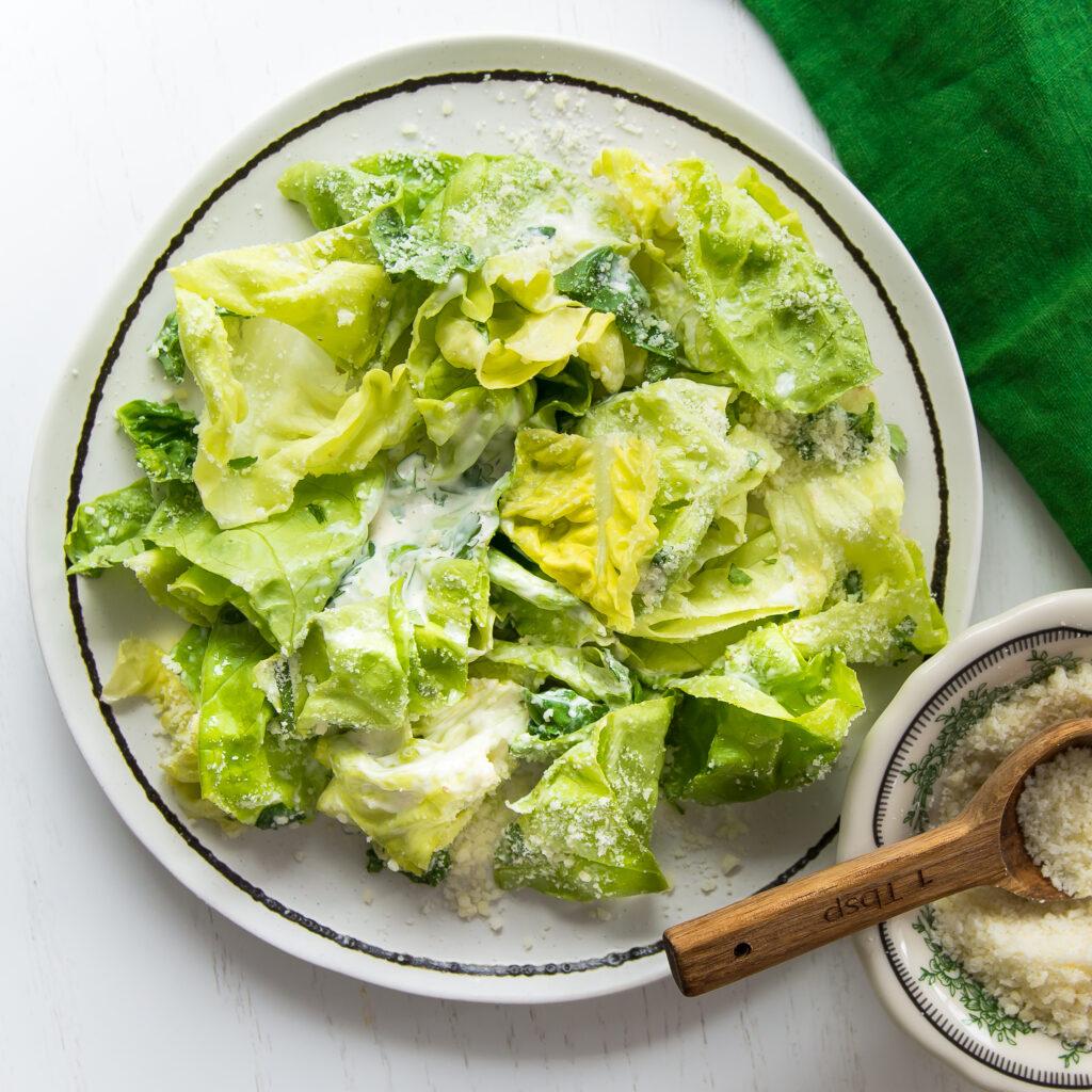 Herbed Butter Lettuce Caesar Salad