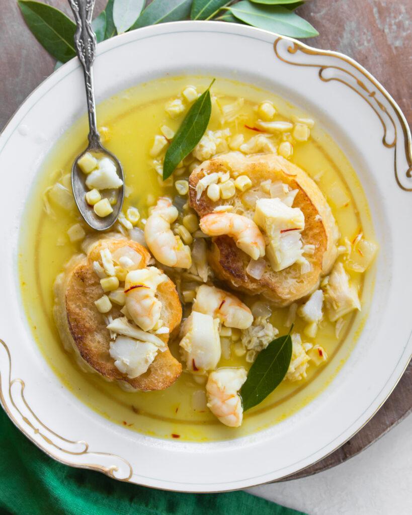 Saffron Seafood Soup