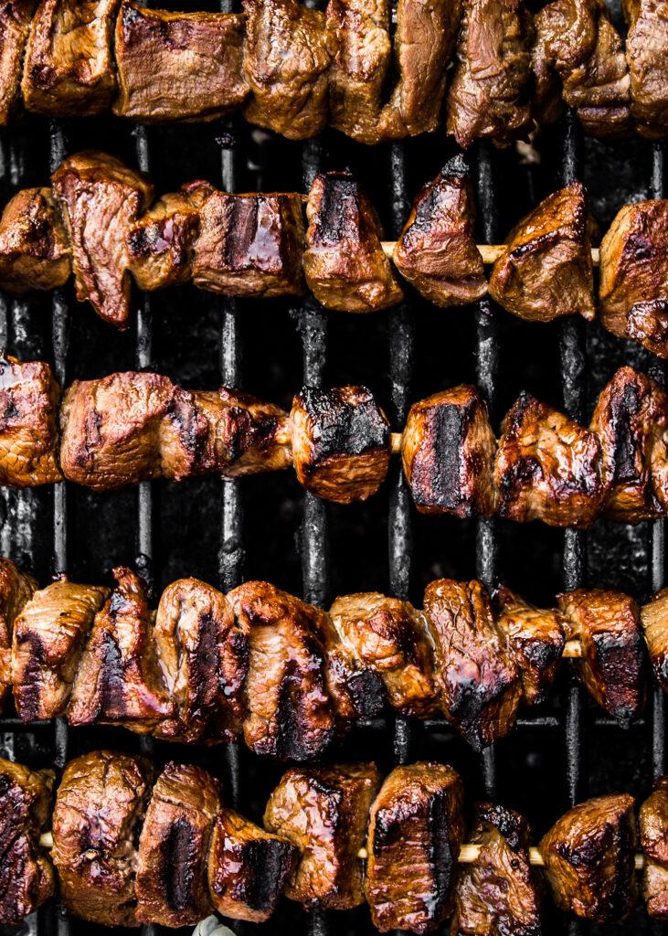 Grilled Asian Beef Skewers