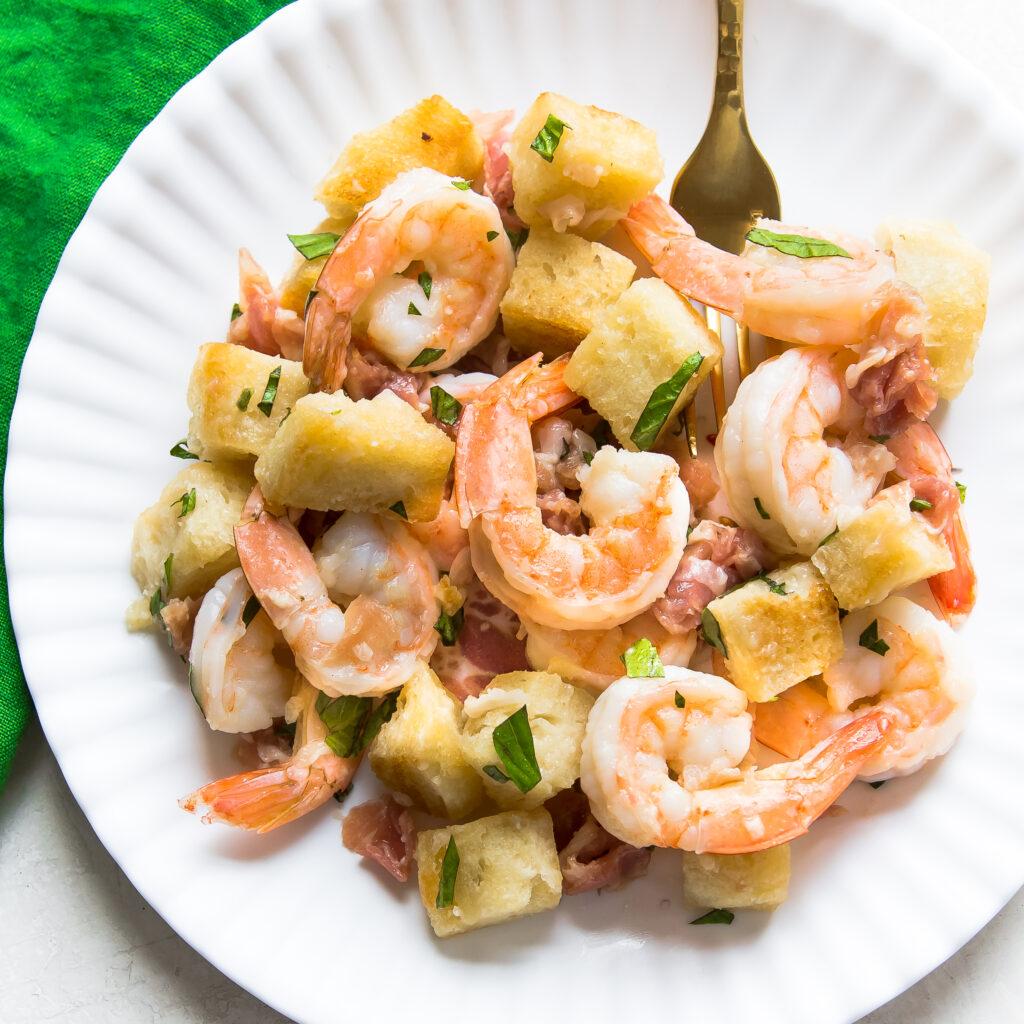 Shrimp and Prosciutto Salad