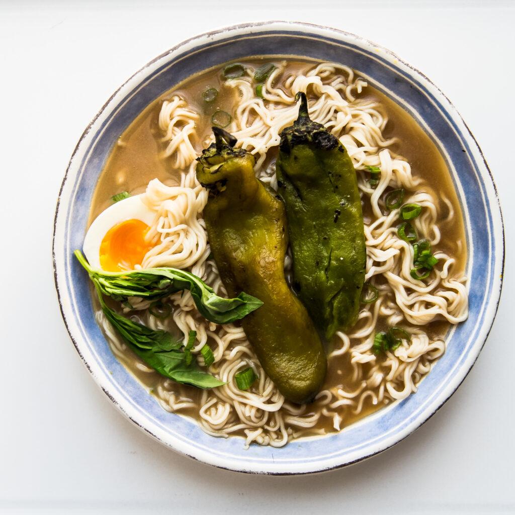 Hatch Chile Ramen Noodle Soup
